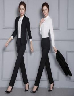 上海工厂新款修身商务白领时尚女西装