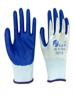 紫羲现货批发13针尼龙手套加厚防滑浸胶挂胶手套防护手套劳保手套