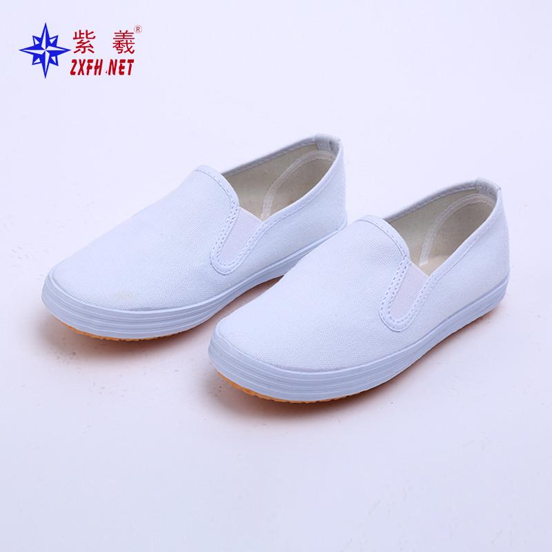 紫羲工厂直发春夏季小白鞋橡胶底白色球鞋低帮简约帆布鞋工作鞋无尘车间工作鞋
