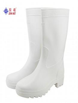 紫羲老牌灯塔雨鞋化工鞋食品靴防护用品中筒白色电工防护鞋