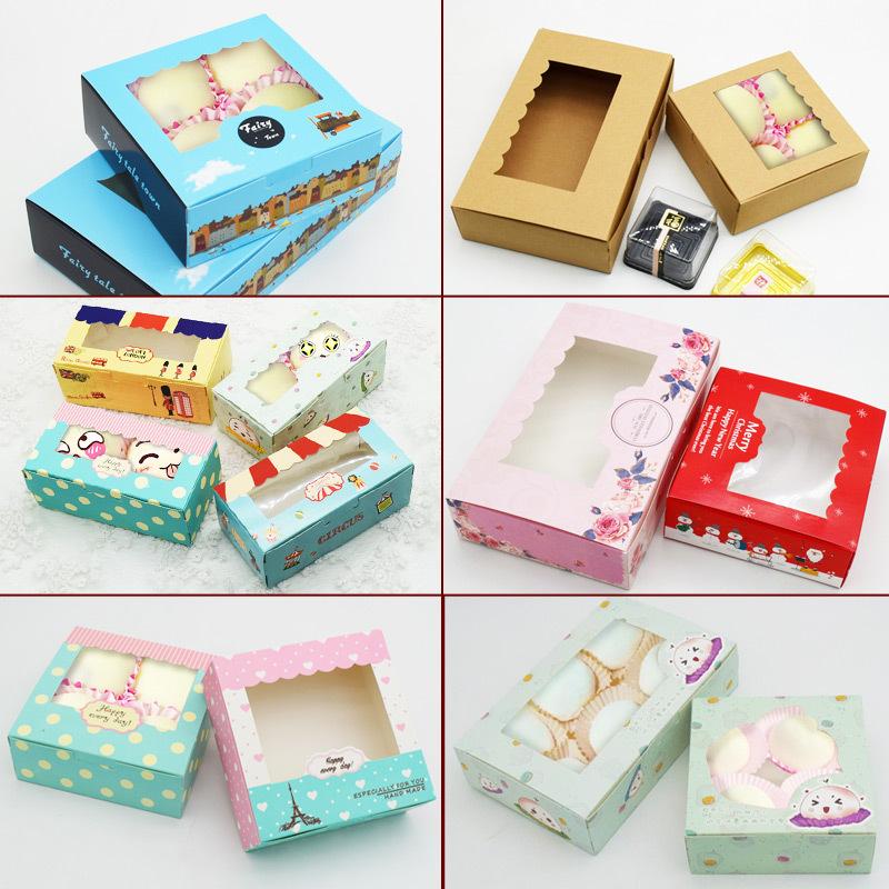 烘焙包装盒2-8粒装雪媚娘蛋黄酥盒63-80g月饼盒蛋糕外卖打包盒