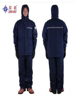 冬の保護冷凍庫の綿の服の冬のジャケット防寒綿パッド入りセット