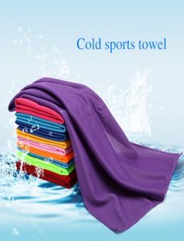Лето круто, круто, круто, ледяное полотенце, ледяная лента, креативное ледяное шелковое полотенце